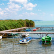 Stock Photo: Angler boats at Lake Balaton,Hungary
