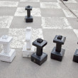 Chess on an asphalt — Stock Photo