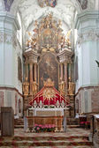Altar is in the cathedral of saint Peter — Stock Photo