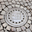 Stock Photo: Hatch of Prague sewage system