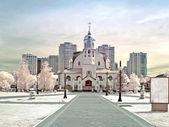 Madre divina templo de kazán — Foto de Stock