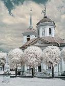 Church in a farmstead Kuskovo — Stock Photo