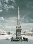 Farmstead Kuskovo. Obelisk — Stock Photo