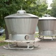 Stock Photo: Vats for saint water