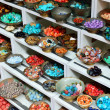 Stock Photo: Traditional eastern jewelery stones on street market