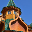 Roof of tower in wooden palace of tzar in Kolomenskoe, Moscow — Stock Photo