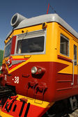 Old Soviet electric train — Foto de Stock