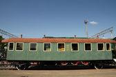 Old Soviet railway coach — Stock Photo