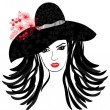 Stock Vector: Fashion girl