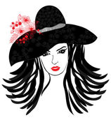 Fashion girl — Vector de stock