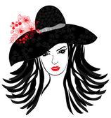 Mode meisje — Stockvector