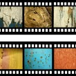 Film strip with old natural textures — Stock Photo