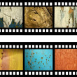 Film strip with old natural textures — Stock Photo #11569861