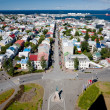 Aerial view of Reykjavik, Iceland — Photo