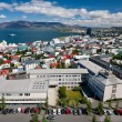 Aerial view of Reykjavik, Iceland — Stock Photo