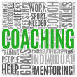 Coaching concept in tag cloud — Stock Photo #10741992