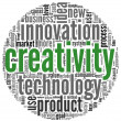 Creativity concept words in tag cloud — Stock Photo #10741995