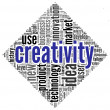 Creativity concept words in tag cloud — 图库照片