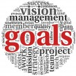 Goals concept in word tag cloud — Stock Photo #10741999
