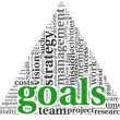 Goals concept in word tag cloud — Stock Photo #10742002