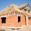 Unfinished house of brick — Stock Photo #10742080