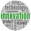 Innovation concept words in tag cloud — Stockfoto