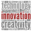 Innovation concept words in tag cloud — Stock Photo #10742142
