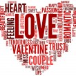 Valentines and love concept in tag cloud — Stock Photo #10742151