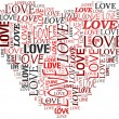 Valentines and love concept in tag cloud — Stock Photo #10742155