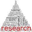 Research concept in word tag cloud — Stock Photo #10742203