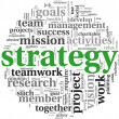 Strategy concept in word tag cloud — Stock Photo