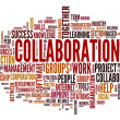 Stock Photo: Collaboration concept in word tag cloud
