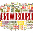 Stock Photo: Crowdsourcing concept in word tag cloud