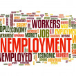 Unemployment concept in tag cloud — Stok fotoğraf