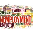 Unemployment concept in tag cloud — Stockfoto