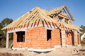 Unfinished house of brick — Stock Photo