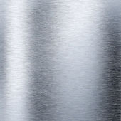 Brushed aluminum metal plate — Stock Photo