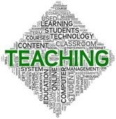 Teaching concept in tag cloud — Stock Photo
