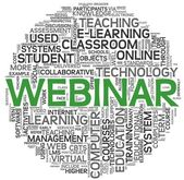 Webinar concept in word tag cloud — Stock Photo