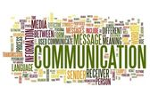 Communication concept in word tag cloud — Stock Photo