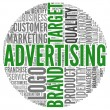 Advertising related words in tag cloud — Foto de Stock