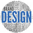 Design concept in word tag cloud — Stock Photo #11282008