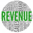 Revenue and sales in word tag cloud — Stock Photo