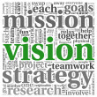 Vision concept in word tag cloud — Photo