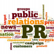 Public relations concept in tag cloud - Stok fotoraf