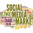 Social media marketing in tag cloud — Stock Photo #11282160