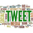 Stok fotoğraf: Tweet word in tag cloud on white