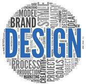 Design concept in word tag cloud — Stock Photo