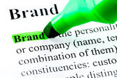 Brand word definition highlighted — Stock Photo
