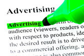 Definition of advertising highlighted — Stock Photo